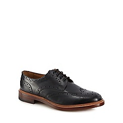 Hammond & Co. by Patrick Grant - Black leather 'Kingham' good year welted brogues