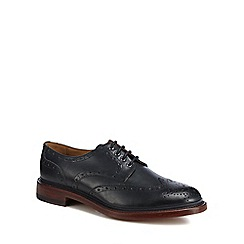 Hammond & Co. by Patrick Grant - Navy leather 'Kingham' good year welted brogues