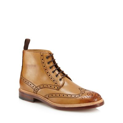 Hammond & Co. by Patrick Grant - Tan leather 'Burford' brogue boots