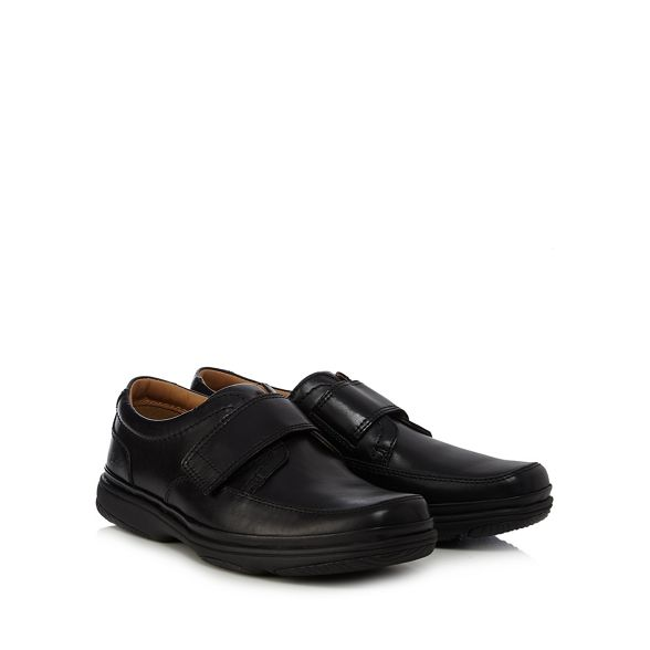 flight' leather Flex shoes 'Swift Black Clarks Turn 64xq7nR