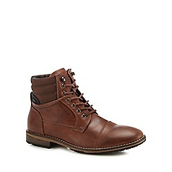 Red Herring - Brown 'Lava' lace up boots