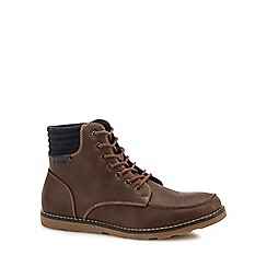 Red Herring - Brown 'Ash' lace-up boots
