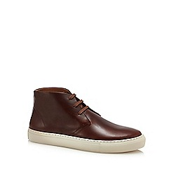 J by Jasper Conran - Brown leather 'Turin' chukka boots