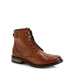 J by Jasper Conran - Tan leather 'Capri' lace up boots