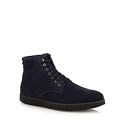 J by Jasper Conran - Navy suede 'Lucca' lace up boots