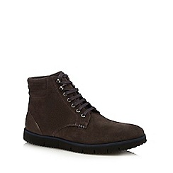 J by Jasper Conran - Dark grey suede 'Lucca' lace up boots