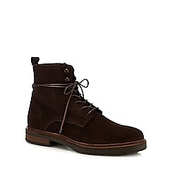 Hammond & Co. by Patrick Grant - Chocolate suede 'Hayling' lace up boots