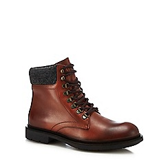 Hammond & Co. by Patrick Grant - Dark tan leather 'Stanton' lace up boots