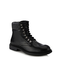 Hammond & Co. by Patrick Grant - Black leather 'Stanton' lace up boots