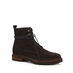 Hammond & Co. by Patrick Grant - Grey suede 'Hayling' lace up boots