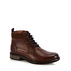 Mantaray - Tan leather 'Cascade' chukka boots