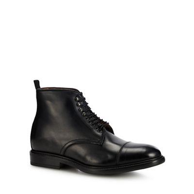 J by Jasper Conran Black leather 'Matera' lace up boots ...
