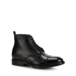 J by Jasper Conran - Black leather 'Matera' lace up boots