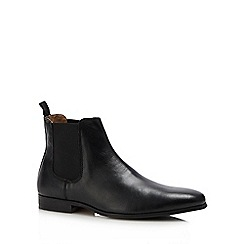 Red Herring - Black leather 'Mars' Chelsea boots