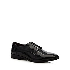Red Herring - Black leather patent 'Dustin' lace up shoes