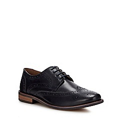 Red Herring - Navy leather 'Manson' brogues shoes