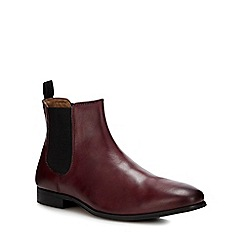 Red Herring - Maroon leather 'Mars' Chelsea boots