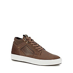 Red Herring - Brown 'Seb 2' high top trainers