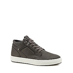 Red Herring - Grey 'Seb 2' high top trainers