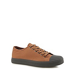 Red Herring - Tan 'Ezra' plimsol trainers