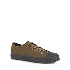 Red Herring - Khaki 'Ezra' plimsol trainers