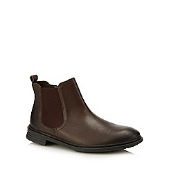 Red Herring - Brown leather 'Kiev' Chelsea boots
