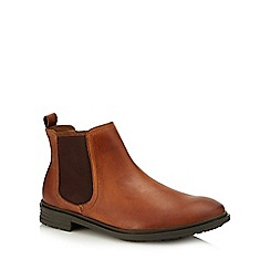 Red Herring - Tan leather 'Kiev' Chelsea boots