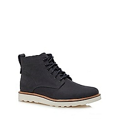 Red Herring - Navy nubuck 'Meteor' lace up boots