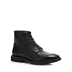 Red Herring - Black 'Lunar' military boots