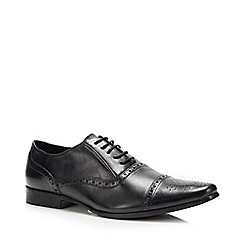 Red Herring - Black leather 'Ethan' Oxford shoes