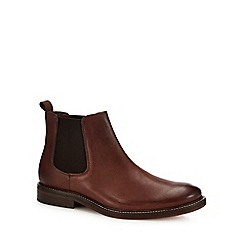 J by Jasper Conran - Chocolate brown leather 'Parma' Chelsea boots