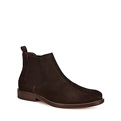 J by Jasper Conran - Chocolate brown suede 'Parma' Chelsea boots
