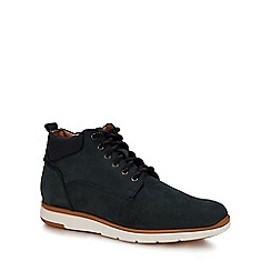 The Collection - Navy nubuck 'Prague' chukka boots