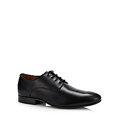 Henley Comfort - Black leather 'Adrian' Derby shoes