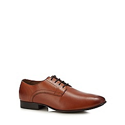 Henley Comfort - Tan leather 'adrian' derby shoes