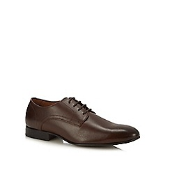 Henley Comfort - Chocolate brown leather 'Adrian' Derby shoes