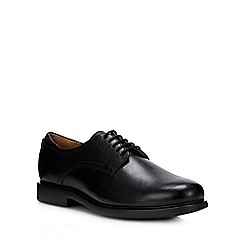 Henley Comfort - Black leather 'Harrison' wide fit Derby shoes