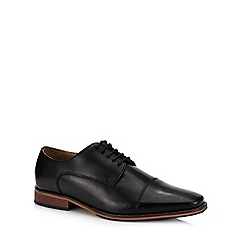 Henley Comfort - Black leather 'Miles' Derby shoes