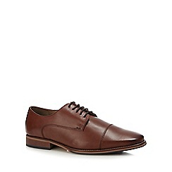 Henley Comfort - Dark tan leather 'miles' derby shoes