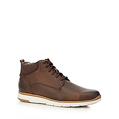 The Collection - Brown leather 'Prague' chukka boots