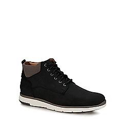 Mantaray - Black leather 'Prague' chukka boots
