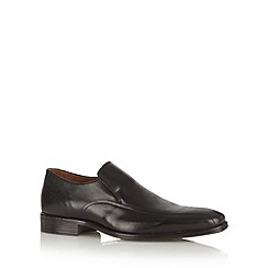 Jeff Banks - Black leather slip on shoes