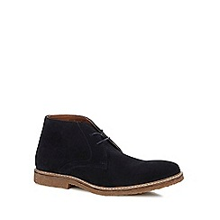 J by Jasper Conran - Navy suede 'Fennel' chukka boots