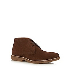 J by Jasper Conran - Chocolate brown suede 'Fennel' chukka boots