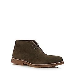 J by Jasper Conran - Khaki suede 'Fennel' chukka boots