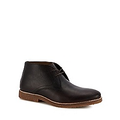J by Jasper Conran - Chocolate brown leather 'Fennel' chukka boots