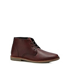 Red Herring - Brown leather 'Stevie 2' desert boots