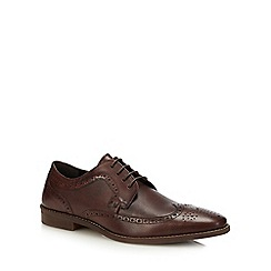 Red Herring - Dark tan leather 'Noah' brogues