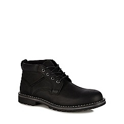 Mantaray - Black leather 'Tallinn' chukka boots