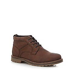 Mantaray - Chocolate brown leather 'Tallinn' chukka boots